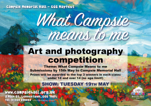 campsie hall art competition